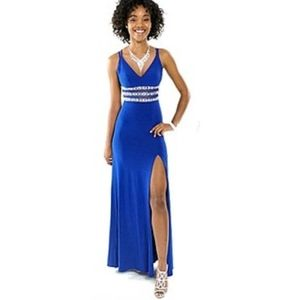 OFFERS? Macy's Royal Blue Rhinestone Prom Gown